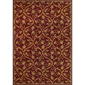 Corinthian Red Vine Brocade Rug