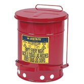 Red Oily Waste Cans - 6 gallon oily waste canw/lever