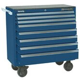 Maintenance Pro™ Carts - 00881 smooth blue 8 drawer maint. pro cart