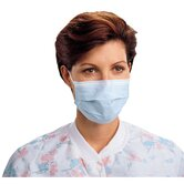 Procedure Face Masks, Blue, 50 per Carton