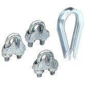 "1/4"" Wire Rope Thimble & Clamp Set 7315-6"