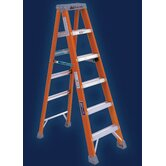 Type IA Non-Conductive Fiberglass Stepladder, 300 Pound Work Load Capacity