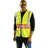 Large OccuLux® High Visibility Fluorescent Yellow Expandable Two-Tone Safety Vest With 3M™ Scotchlite™ Reflective Tape