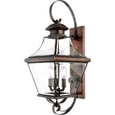 "27.5"" Oula Outdoor  Wall Lantern in Aged Copper"