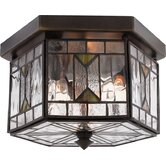 Medium Chaparral Outdoor  Flush Mount in Medici Bronze