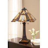 Inglenook Tiffany  Table Lamp in Valiant Bronze