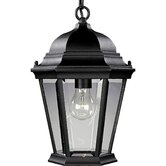 Welbourne IncandescentHanging Outdoor Lantern in Black
