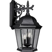 Welbourne  Outdoor Wall Lantern in Black