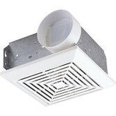Square Bath Exhaust Ceiling Fan for Rooms Up to 45'
