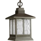 Greenridge LED Outdoor Hanging Lantern in Antique Bronze