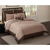Zen Blossom Comforter Set with Four Bonus Pieces