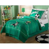 Soccer Twin Quilt with Sham
