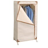 Storage Wardrobe in Canvas with Tan Trim