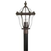 San Clemente Outdoor Post Lantern in Museum Black