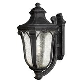 "Trafalgar 26.5"" x 12"" Outdoor Hanging Lantern in Museum Black - Energy Star Optional"