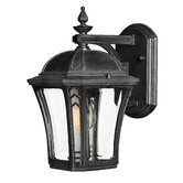 "Wabash  10"" x 6.25"" Outdoor Wall Lantern in Museum Black"
