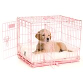 ProValu Two-Door Dog Crate in Pink