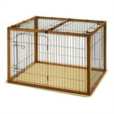 Wood and Wire Combo Dog Crate