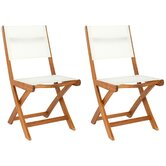Cindy Folding Dining Side Chairs (Set of 2)