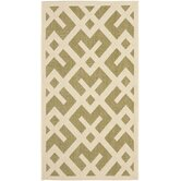 Courtyard Green / Bone Outdoor Rug