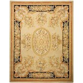 French Tapis Beige/Black Rug