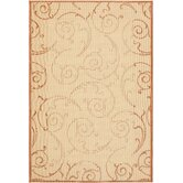 Courtyard Natural/Terra Swirl Rug