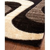 Miami Shag Brown/Beige Rug