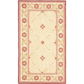 Wilton Beige / Red Rug