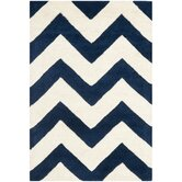 Chatham Dark Blue/Ivory Chevron Rug