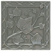 "Accent Statements Metal 3"" x 3"" English Ivy Decorative Corner/Insert in Vintage Pewter"