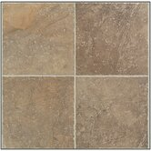 "Egyptian Stone 13"" x 13"" Floor Tile in Cairo Brown"