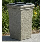 30-Gallon StoneTec Waste Container with Lid and Liner