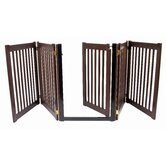 "32"" Walk Through 5 Free Standing Pet Gate in Mahogany"