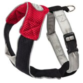 Dog Wear Mesh Harness in Red and Black