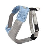 Dog Wear Mesh Harness in Blue and Gray