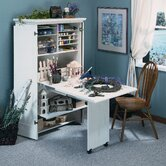 Harbor View Craft Armoire in Distressed Antiqued White