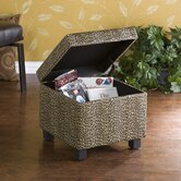 Wilson Leopard Storage Cube Ottoman