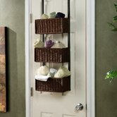 Lynbar Over The Door 3-Tier Basket Storage in Black and Espresso