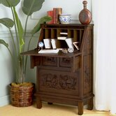 "Cynthia 26"" W Hand-Carved Drop-Front Secretary"