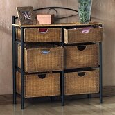 Royston 6-Drawer Wicker Storage Chest