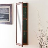 Billock 48&quot; High Wall Mount Jewelry Mirror in Warm Walnut