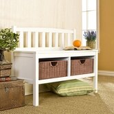 Harrison Wood Storage Bench