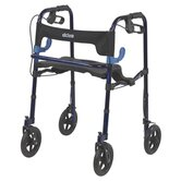 Deluxe Clever Lite Rollator Walker with Casters