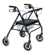 Heavy Duty Bariatric Rollator Walker with Large Padded Seat