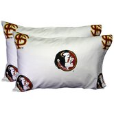 Florida State Seminoles Pillow Case Set in White