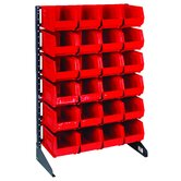 Single Sided Steel Rail Rack with Bins (Complete Package)