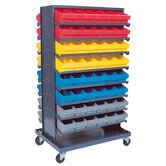 Double Sided Pick Rack Systems with Various Euro Bins with Optional Mobile Kit