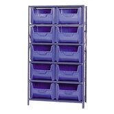 Giant Stack Container Shelf Storage Systems with Medium Bins