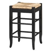 24&quot; Rush Seat Counter Stool in Black