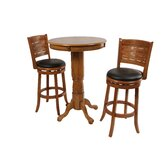 Sumatra 3 Piece Pub Set in Oak